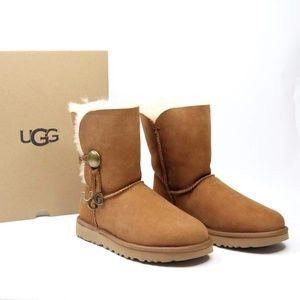 Ugg Bailey Button Charm Boots Suede Women's 8 US